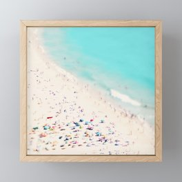 beach love III square Framed Mini Art Print