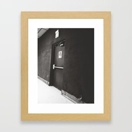 Exit/No Exit Framed Art Print
