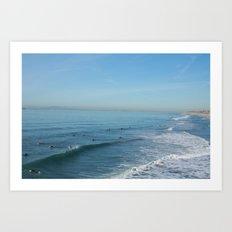 Waves on Sunday Art Print