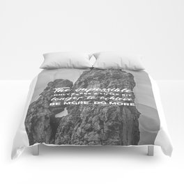 Achieve The Impossible Goals Dreams Ambitions Comforters