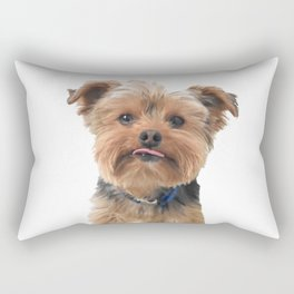 Yorkie Sticking Tongue Out | Dogs | Nadia Bonello Rectangular Pillow