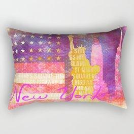 New York USA Statue of Liberty Rectangular Pillow
