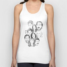 Parks and Recreation 'Rec a Sketch' Unisex Tank Top