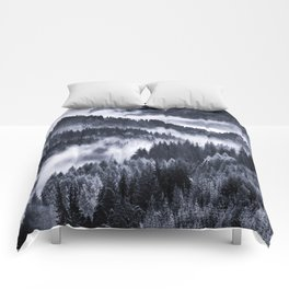 Misty Forest Mountains Comforters