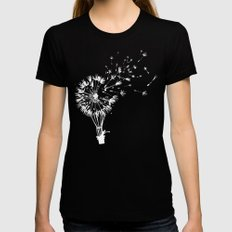 Going where the wind blows MEDIUM Black Womens Fitted Tee