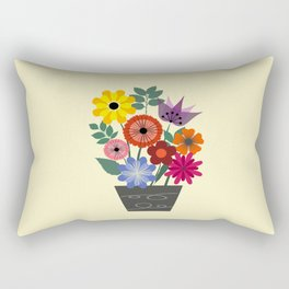 Spring flowers in vase Rectangular Pillow