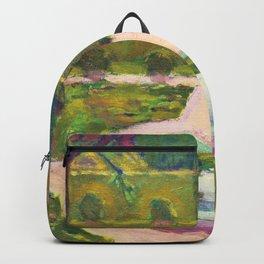 """Koloman (Kolo) Moser """"Garden with fountain"""" Backpack"""