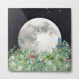 Night Garden Moon Magick Metal Print