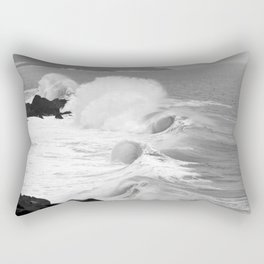 "Ocean Waves ""Tres Tubos"" Rectangular Pillow"