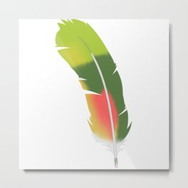 Amazon Parrot, tail feather Metal Print