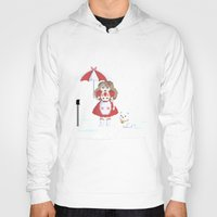 bee and puppycat Hoodies featuring Bee and Puppycat in the Rain by Paul Scott (Dracula is Still a Threat)