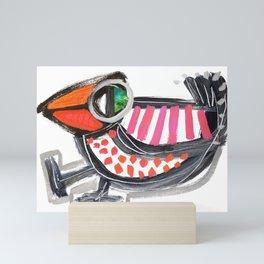 Dancing Bird Mini Art Print