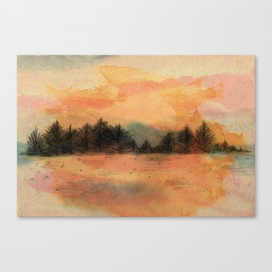 Horizonte distante Canvas Print