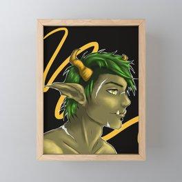 Horns Framed Mini Art Print