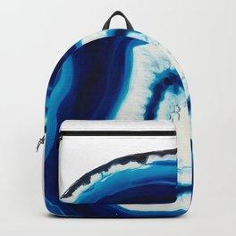 Blue Agate Geode Slice Backpack