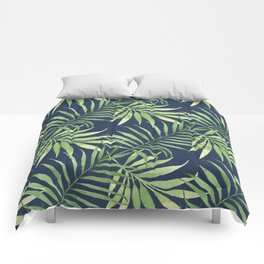 Tropical Branches on Dark Pattern 05 Comforters