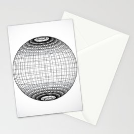 Wire Planet2 -BG white- Stationery Cards
