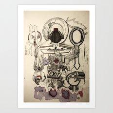Weighing Fake Hearts Art Print
