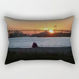 Daybreak on the river Rectangular Pillow
