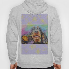 Gordon Setter Dog with flowers Valentine's Day gift Hoody