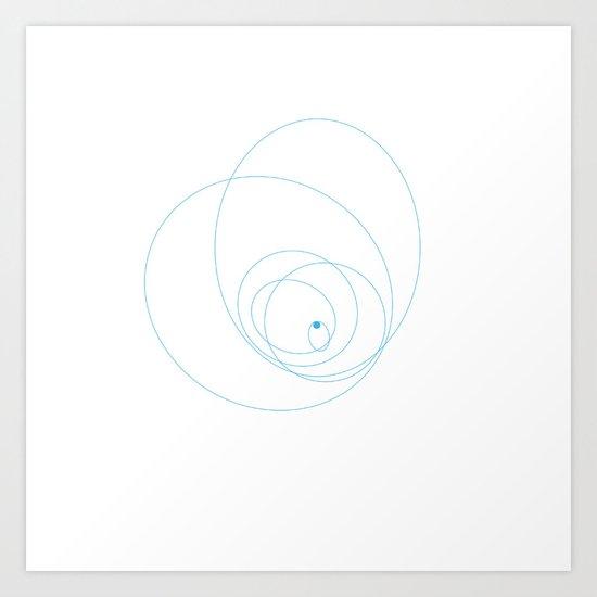 #152 Moons of Neptune – Geometry Daily Art Print