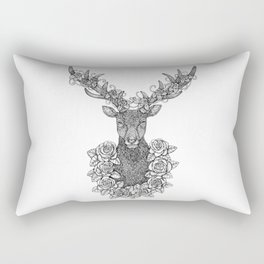 A Deer Portrait by Kent Chua Rectangular Pillow