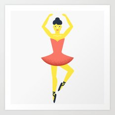 Ballet dancer, beloved The Nutcracker Art Print