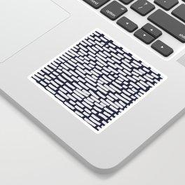 Light Grey Strokes on Dark Blue Sticker