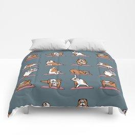 English Bulldog Yoga Comforters