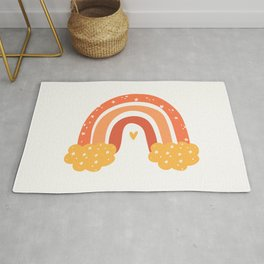 Modern Abstract Rainbow Art For Kids Rug
