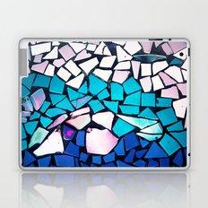 Turquoise and blue mosaic-(photograph) Laptop & iPad Skin