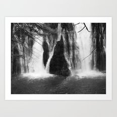 Places in Black & White: Burney Falls 5 Art Print