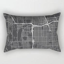 Tacoma Map, USA - Gray Rectangular Pillow