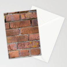 Initially Brick Stationery Cards