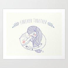 forever together cat Art Print