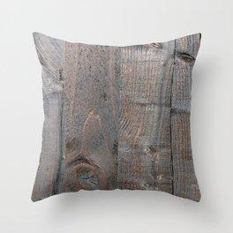 Brown Wood Panels Throw Pillow