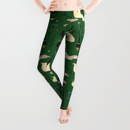 Slytherin Pattern Leggings