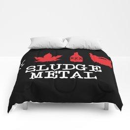 I Love Sludge Metal Comforters