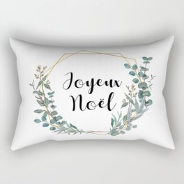 Noel Eucalyptus Geometric Wreath Rectangular Pillow