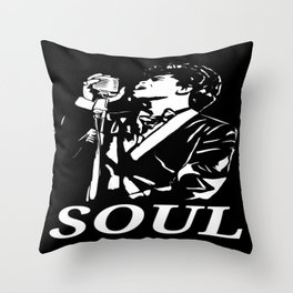 """James Brown """"The Godfather Of Soul"""" Throw Pillow"""