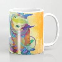 archan nair Mugs featuring Locus Dahlia by Archan Nair