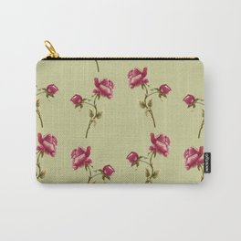 Embroidered Rose Carry-All Pouch