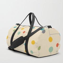 Mid-Century Dots Pattern Duffle Bag