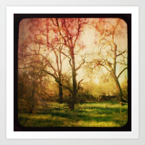 The trees whispered to me Art Print