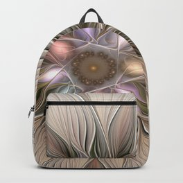 Joyful Flower, Abstract Fractal Art Backpack