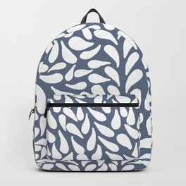 Elegant Abstract Grey Drops Pattern Backpack
