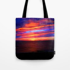 Sunset by the sea - Painting Style Tote Bag