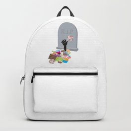 Death by Candy Halloween Design Backpack