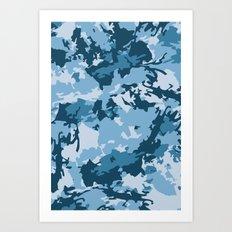 blue fir camo Art Print