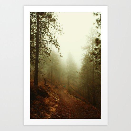 Autumn in Ponderosa Pines Forest Art Print